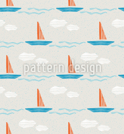 Abstract Sailingboats Seamless Pattern