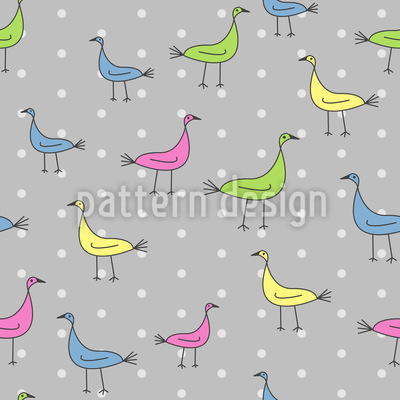 Abstrakte Vögel Rapportiertes Design
