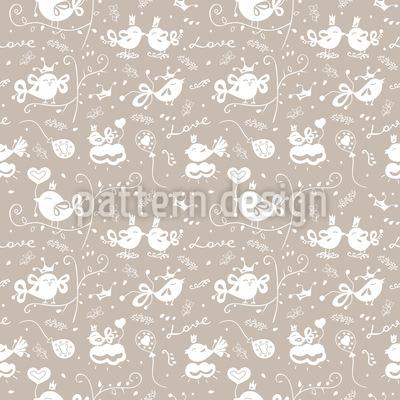 かわいいラブバード シームレスなベクトルパターン設計