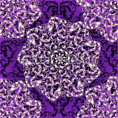 Tanzende Rosetten Nahtloses Vektor Muster