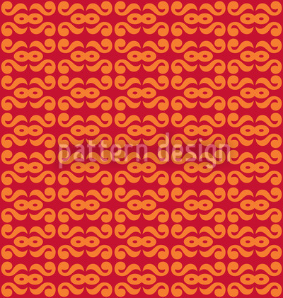 Endlosbahn Orange Vektor Muster