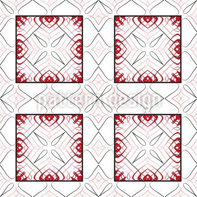 Mit Geschwungenen Linien Vektor Ornament