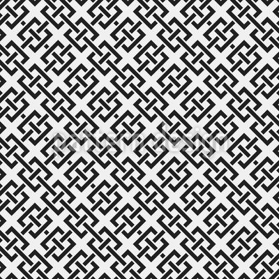 Gewobene Quadrate Vektor Ornament