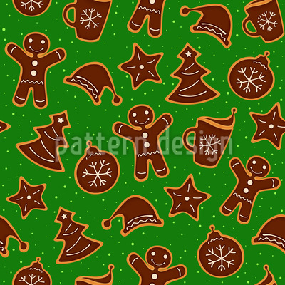 Omas Weihnachtsplätzchen Nahtloses Muster