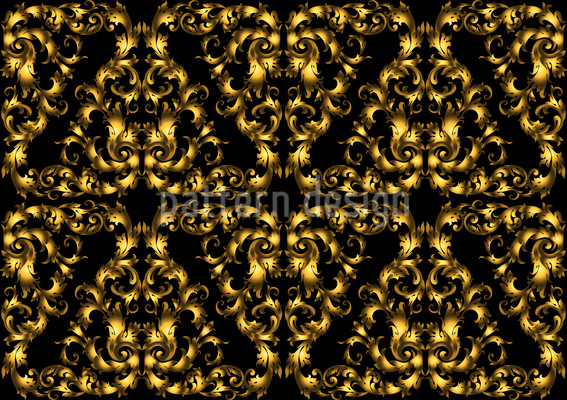 Goldene Spitze Musterdesign