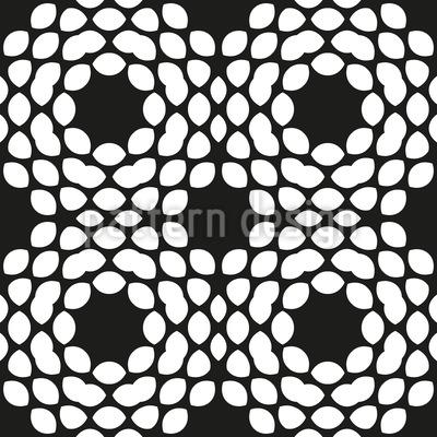 Angeordnete Runde Formen Rapportiertes Design