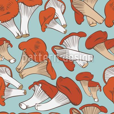 Süße Pilze Nahtloses Muster