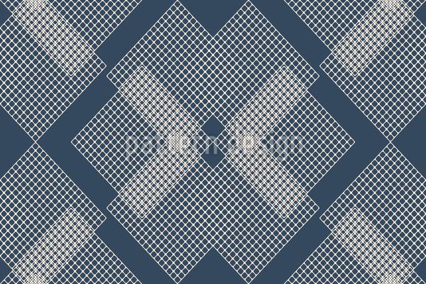Geometrische Gitter Nahtloses Vektor Muster
