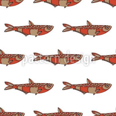 Stilisierte Fische Rapportmuster