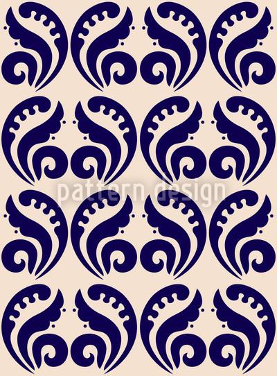 Expressive Blue Vector Design
