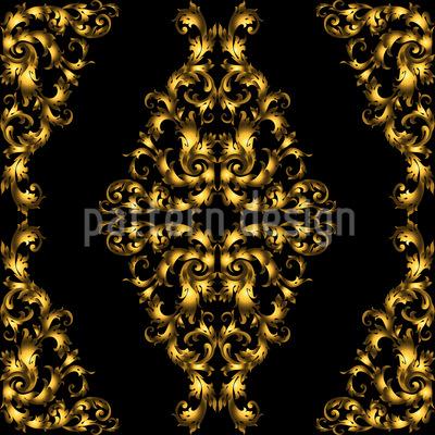 Damasco Barroco Design de padrão vetorial sem costura