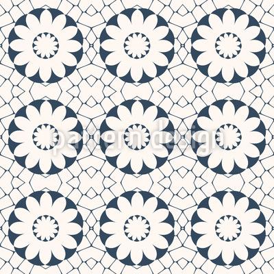 Azulejo Blüten Nahtloses Muster