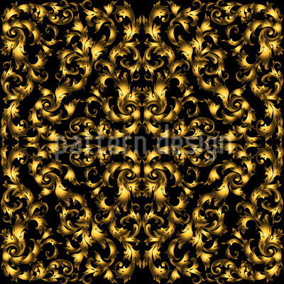Opulent Damask Seamless Vector Pattern Design
