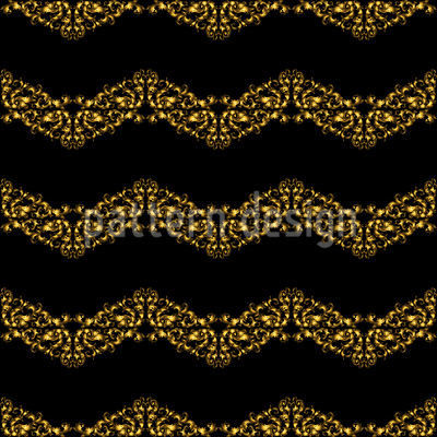 Bordures de Ondas Reais Design de padrão vetorial sem costura