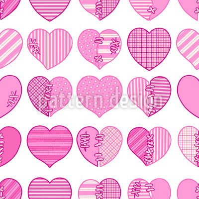 Verliebt in einen Herzensbrecher Nahtloses Muster