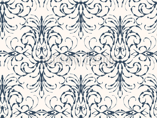 Stilisierter Barock Muster Design