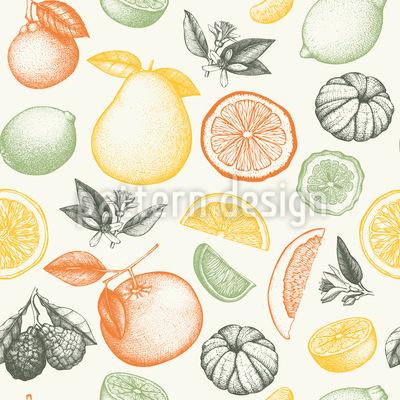 Früchte In Tinte Musterdesign