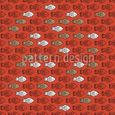 Niedliche Fisch-Bande Vektor Muster
