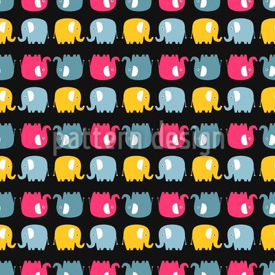 Elefanten-Silhouetten Rapport