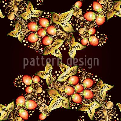 Khokhloma Flechtwerk Muster Design