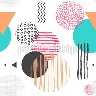 Formas Texturadas Design de padrão vetorial sem costura