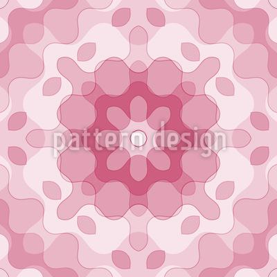Wie Kunstblumen Vektor Ornament