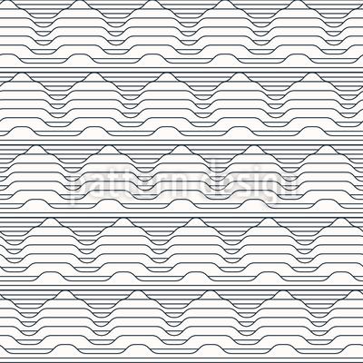 Geometrische Bergkette Vektor Muster