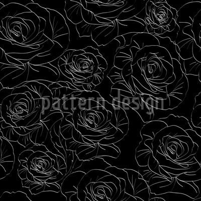 Rosas Brancas Design de padrão vetorial sem costura