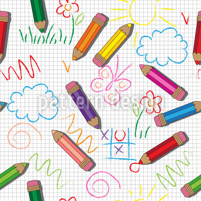 Creative Kids Vector Pattern