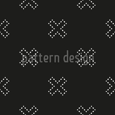 Kreuzüber Gepunktet Vektor Design