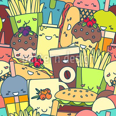 Niedliches Fast Food Rapportiertes Design