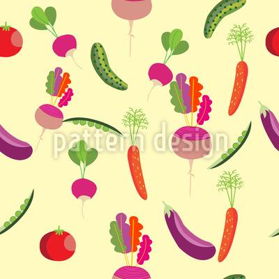 Comic Gemüse Muster Design
