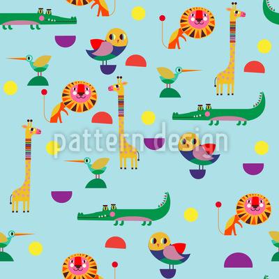 Geometrischer Zoo Musterdesign