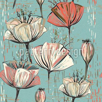 Vintage Blumenwelt Vektor Design