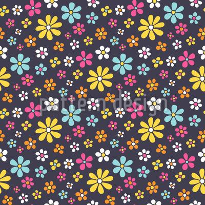 Sommerlicher Blumenregen Rapportmuster
