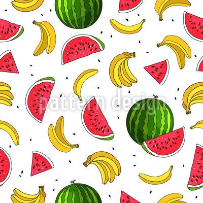 フルーツミックス シームレスなベクトルパターン設計