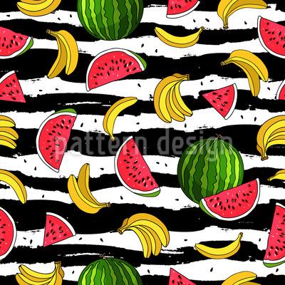 Banane und Wassermelone Vektor Design