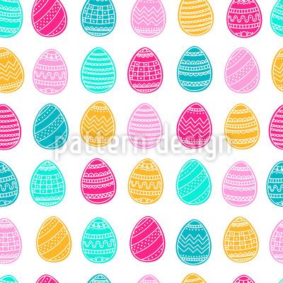Bunte Eier Rapportiertes Design