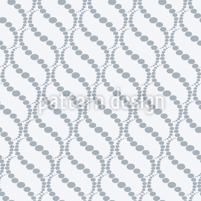 Wavy Dots Grey Seamless Vector Pattern