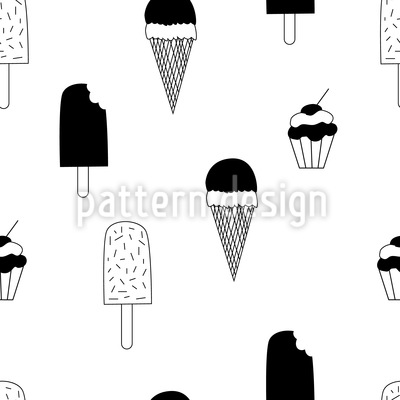 Eis und Muffins Nahtloses Muster