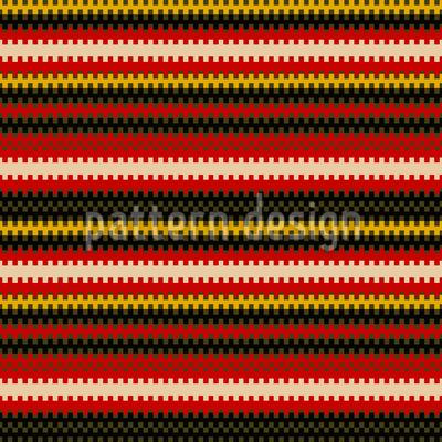 Pixelige Streifen Nahtloses Vektor Muster