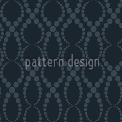 Schwarze Perlen Rapportiertes Design