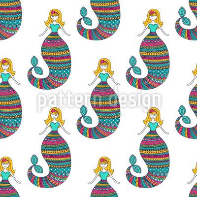 Verschlafene Meerjungfrau Vektor Design