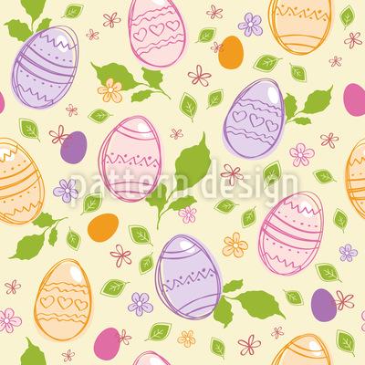 Hidden Easter Eggs Pattern Design