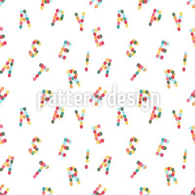 Osterei Buchstaben Rapportiertes Design