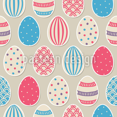 Easter Egg Painting Fun Seamless Vector Pattern Design