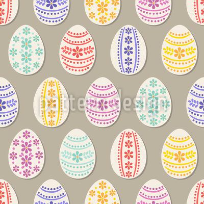 Florale Bordüren Ostereier Muster Design