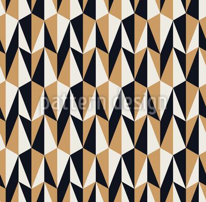 Strenge Dreiecke Rapportiertes Design