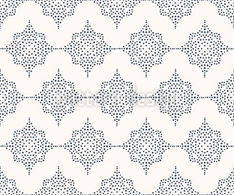 Gepunktetes Oktagon Nahtloses Vektor Muster