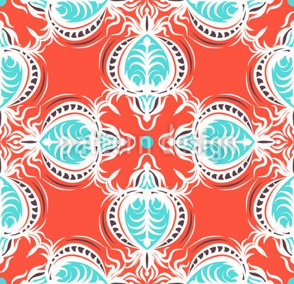 Prächtige Ornamentkäfer Vektor Muster